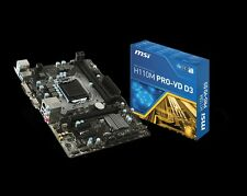 MSI Motherboard H110M Pro-VD Core i3/i5/i7 H110 LGA1151 DDR4 32GB SATA PCI