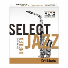 D'Addario 10 PACK Select Jazz Alto Saxophone Unfiled Reeds 2H 2 Hard