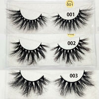 Handmade25mm Lashes 3D Mink Hair False Eyelashes Reusable Wispy Fluffy Eyelashes
