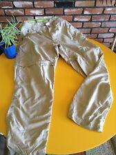 $79 The NORTH FACE CONVERTIBLE SNOW PANTS Lightweight Khaki Women's Elastic L
