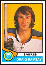 1974-75 OPC O PEE CHEE HOCKEY #305 CRAIG RAMSAY NM BUFFALO SABRES CARD