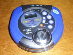 Aiwa XP-SP911 Cross Trainer Portable Compact Disc Player CD-R/RW Playback Blue