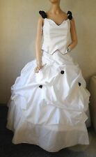NEU traumhaftes Brautkleid Gr.38 + Schleier ( Zweiteiler ) ♥ weiß / schwarz ♥