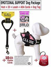 E.S.A. - SERVICE DOG PKG + Vest + ID + Leash + ADA Rights Card + Dog Tag - LD