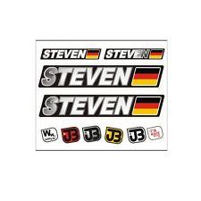 Steven voiture vélo moto kart Casque fahrername autocollant sticker drapeau