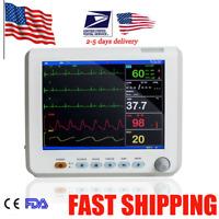 Portable Cardiac Monitor CCU Patient Monitor ECG/NIBP/SPO2/TEMP/RESP/PR