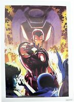 Marvel Iron Man Iron Age #1 Limited Edition Giclee Canvas Signed by Stan Lee