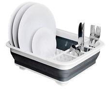 Collapsible Pop Up Dish Drainer Washing Pots Cutlery Folding Caravan Rack Holder