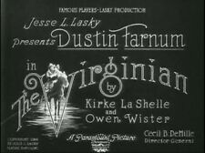 THE VIRGINIAN, 1914, early CECIL B. DeMILLE silent Western: DVD-R: Region 2  ^