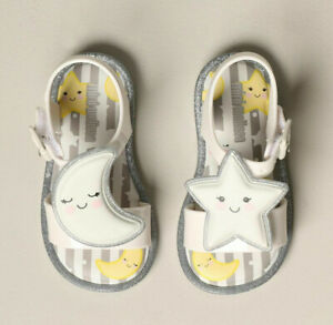 Mini Melissa Baby Girl Sandals Size 9 Sweet Dreams Star and Moon Sandals
