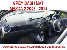 DASH MAT, DASHMAT, DASHBOARD COVER FIT  MAZDA 2 2008-2014, AIR BAG,  GREY
