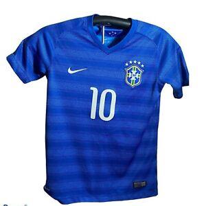 Brazil Nike 2016 CBF Blue Soccer Futbol Jersey Neymar Jr #10 Medium. Size Used