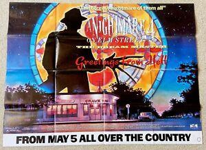 A NIGHTMARE ON ELM STREET 4. THE DREAM MASTER. ORIGINAL UK QUAD FILM POSTER.1988