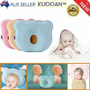 Newborn Baby Infant Memory Foam Support Prevent Flat Head Neck Cot Pillow