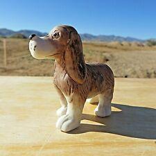 Small Standing Dog Figurine, Brown & White Cocker Spaniel. Bisque Porcelain