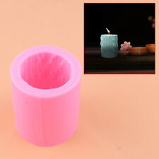Knitting Cylinder Mould 3D Silicone Candle Mold Fondant Soap Cake Mold