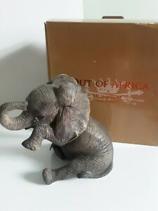 Out of Africa by Leonardo Sitting BABY ELEPHANT Crying tear Ornament NewLP12862