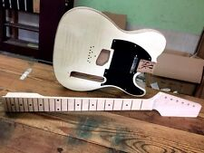 FLAME MAPLE CUSTOM SHOP TELE STYLE ELECTRIC GUITAR KIT - ASH BODY KLUSON STYLE