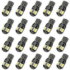 20 PCS White Car 8 LED T10 SMD 194 W5W 5730 Lamp Wedge Light Canbus Side Bulb T