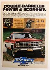 1980 Chevy C10 Fleetside Pickup Truck Ad - Must See !!