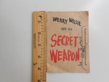 """Vintage Wonder Bread Ad Booklet """"Weary Willie and His Secret Weapon"""" RARE"""