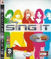 DISNEY SING IT for Playstation 3  PS3 - with box & manual - ENG SWE DAN NOR