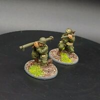 Well painted 28mm Bolt Action US Airborne 2 man bazooka team ww2