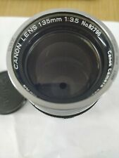 Canon 135mm F/3.5 LTM Lens With 48mm Canon Filter & Case
