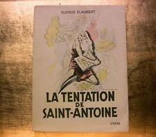 1951 FLAUBERT TENTATION SAINT ANTOINE LIVRE ILLUSTRE PLANCHES COULEURS BOOK