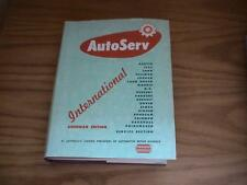 AutoServe International Auto Vehicle Repair Manual 1961 American Edition