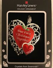 Our First Christmas Together 2016 Ornament Harvey Lewis Heart Swarovski Elements