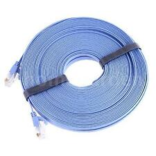 Hot RJ45 CAT6a Cat6 Flat Ethernet Patch Network Lan Cable 20m NEW Q9R2
