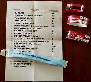 Rolling Stones Manchester 5 June 2018 Set List, Gold Circle Wristband, Pit A & B