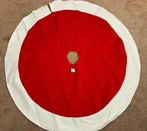 "Wondershop Christmas Tree Skirt 46"" Circle Home Decorative Holiday Red White"