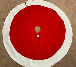 "Wondershop Christmas Tree Skirt 46"" Circle Home Decorative Holiday Red White"