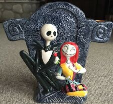 Disney Nightmare Before Christmas Jack Sally Black Ceramic Taper Candelabra