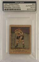 1951 1952 PARKHURST George Sullivan AUTO PSA DNA AUTOGRAPH #27 HOCKEY Bruins