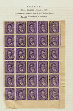 Argentina  #64b   large block of 30 specimen overprint