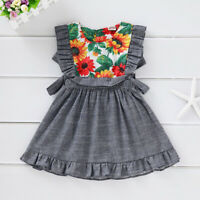 Floral Print Toddler Baby Kid Girls Summer Party Dress Princess Pageant Sundress