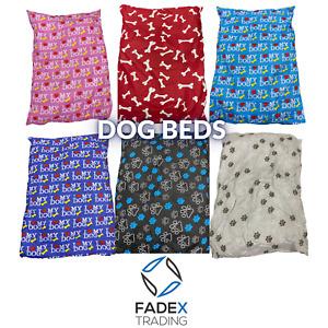 Large Dog Bed Pet Washable Zipped Mattress Cushion Design Sleep Pollycotton