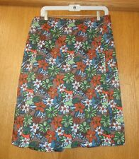 Woman's sz 12 - Multi-colored SKIRT - Christopher & Banks - A-Line, cotton blend