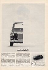 1964 British Motor Corporation PRINT AD 1/2 MG Sports Sedan Great Detailed