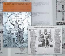 1995 Rosenkreuzer Geheimgesellschaft occulta Cimelia Rhodostaurotica 1610-60