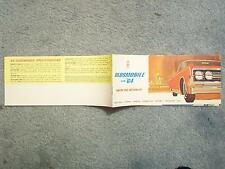 1964 OLDSMOBILE BROCHURE WHERE THE ACTION IS NINETY-EIGHT STARFIRE 8 1/2 X 3 3/4
