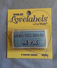 """Lovelabels """"Made with love by Mum"""" -  Iron-on Labels"""