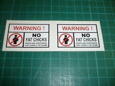 Advertencia No Grasa Pollitos Stickers - 35 Mm