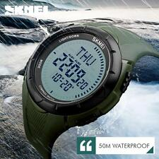 Mens Newest Compass Watch LED Waterproof Military Quartz Analog Wristwatches
