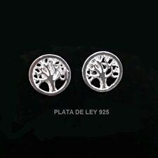 PENDIENTES ARBOL de la VIDA 9 mm, PLATA DE LEY 925 ref. PP-090