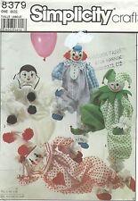 Simplicity 8379 Decorative Craft Clowns  Craft Sewing Pattern