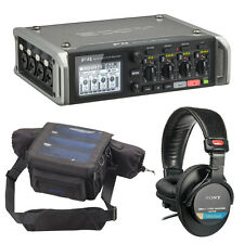 Zoom F4 Multitrack Field Recorder w/ PCF-8 Case & Sony MDR-7506 Headphones
